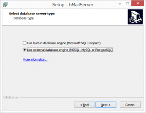 select-database-server-type